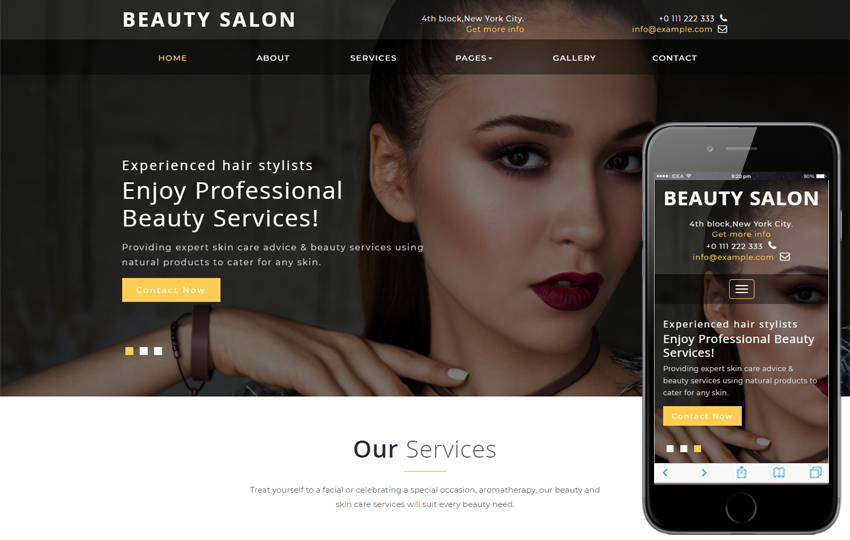 Steps to create the website for your Salon or Esthetic Center 7