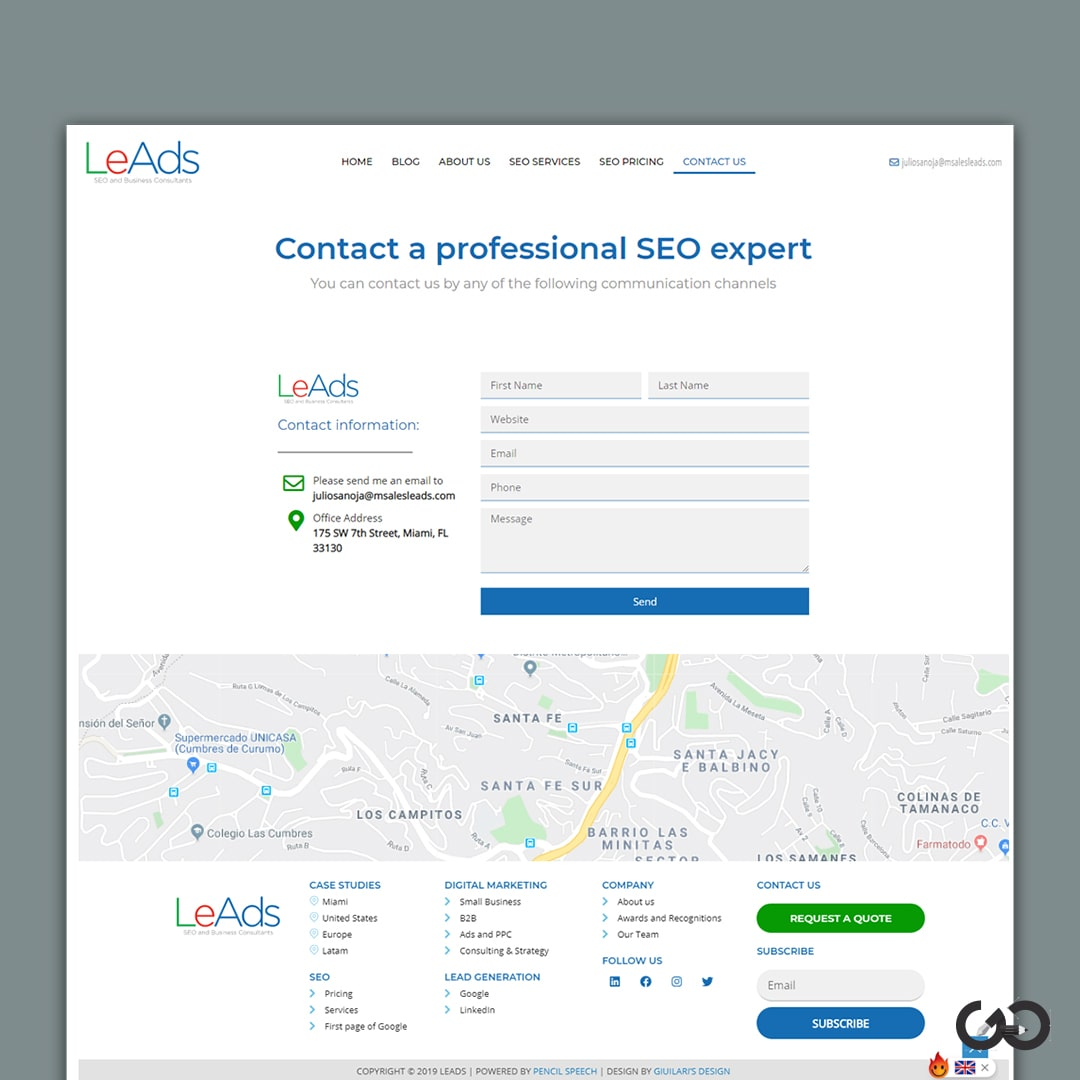 Lead Website